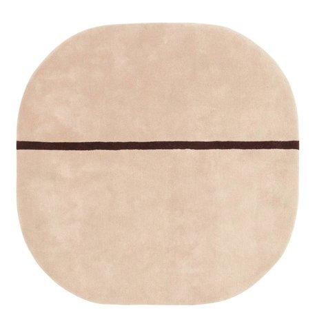 Normann Copenhagen Halı Oona pembe Wolle140x140cm