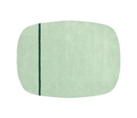 Normann Copenhagen Tæppe Oona mintgrøn uld 175x140cm