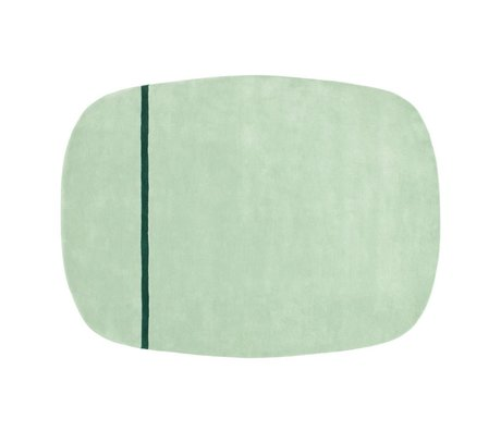Normann Copenhagen Tapis Oona vert menthe laine 175x140cm