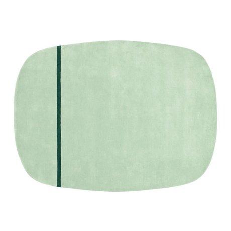 Normann Copenhagen 175x240cm verde alfombra de lana Oona menta
