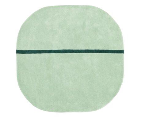 Normann Copenhagen Tæppe Oona mintgrøn uld 140x140cm