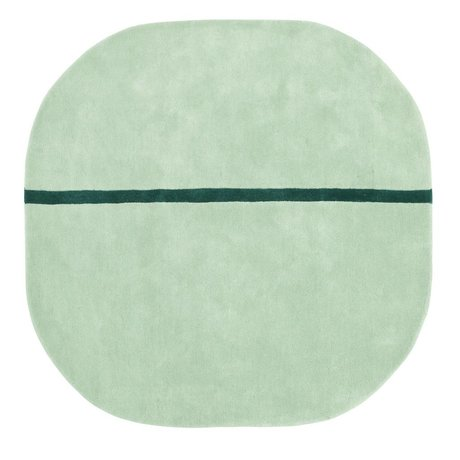 Normann Copenhagen Carpet Oona mint green wool 140x140cm