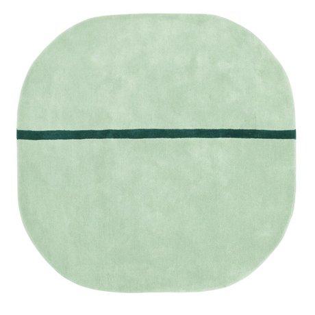 Normann Copenhagen Wollteppich Oona mintgrün 140x140cm