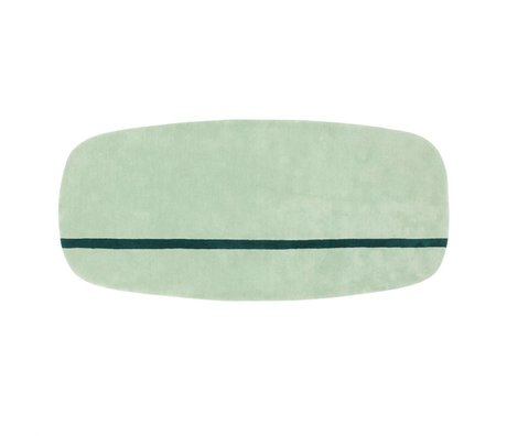 Normann Copenhagen Carpet Oona mint green wool 90x200cm