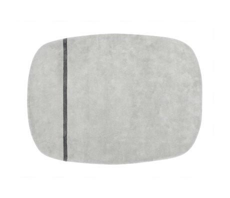 Normann Copenhagen Tappeto Oona grigio di lana 175x140cm