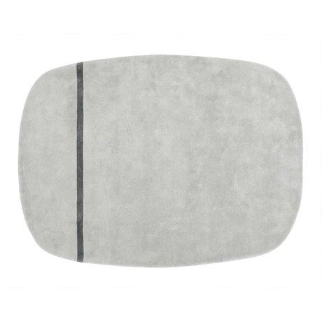 Normann Copenhagen alfombra de lana gris Oona 175x240cm