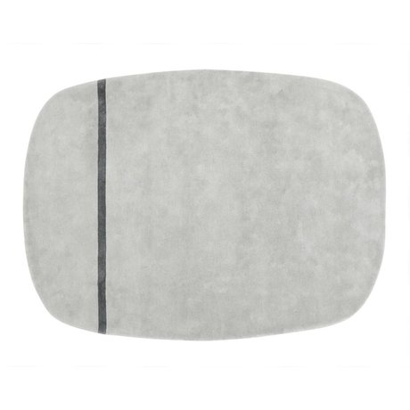 Normann Copenhagen Tapis Oona laine grise 175x140cm