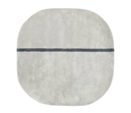 Normann Copenhagen Halı Oona gri yün 140x140cm
