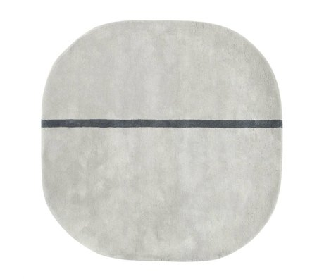 Normann Copenhagen Wollteppich Oona grau 140x140cm