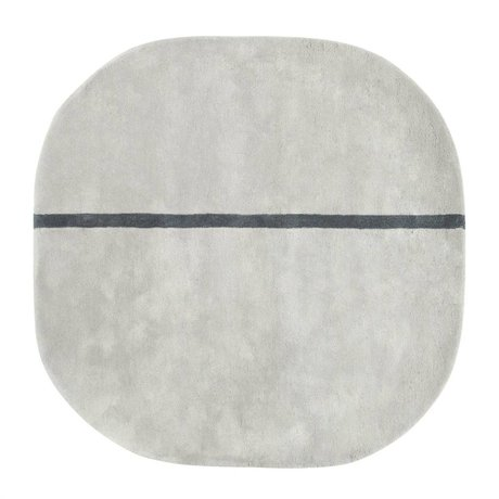 Normann Copenhagen Carpet Oona gray wool 140x140cm