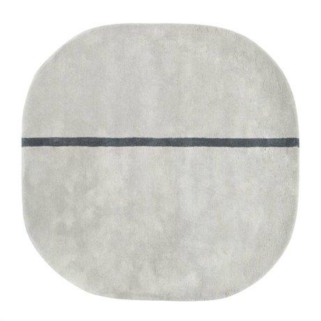 Normann Copenhagen Tæppe Oona grå uld 140x140cm