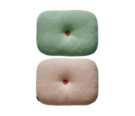 OYOY Cuscino menta bilateralmente rosa di cotone verde 25x35cm
