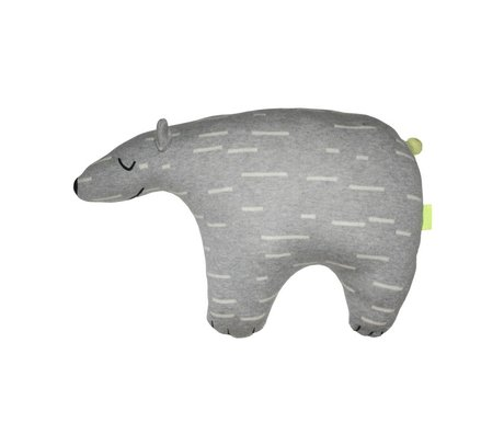 OYOY Plüschtier Knut Eisbär grau weiß Baumwolle 52x14x34cm