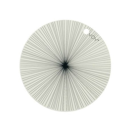 OYOY Napperon blanc ensemble de deux 39x0,15cm en silicone noir