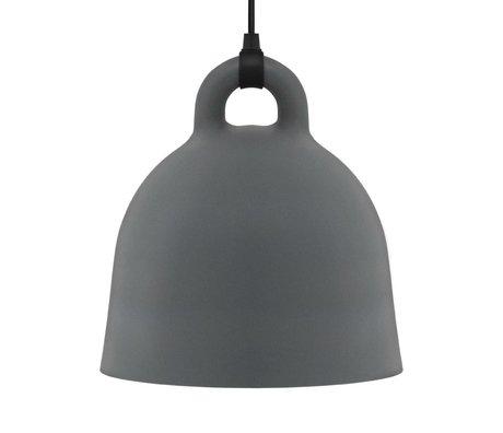 Normann Copenhagen Hängelampe Bell gray aluminum L Ø55x57cm
