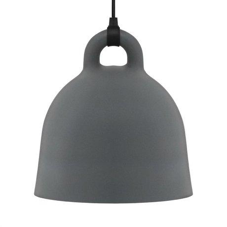 Normann Copenhagen Glockenlampe Bell grau Aluminium large 55x57cm