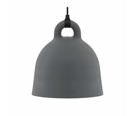 Normann Copenhagen Hängelampe Bell gray aluminum M Ø42x44cm