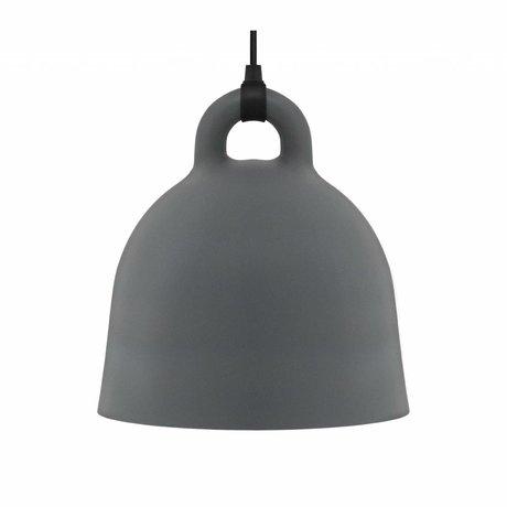 Normann Copenhagen Glockenlampe Bell grau Aluminium medium 44x42cm