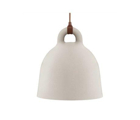 Normann Copenhagen Bell Bell aluminium brun sable petite 35x37cm
