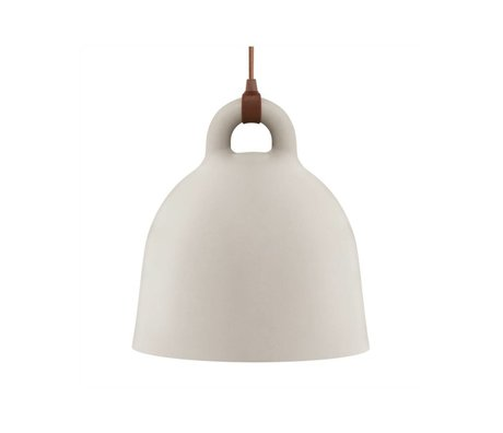 Normann Copenhagen Campana campana de aluminio marrón arena pequeña 35x37cm
