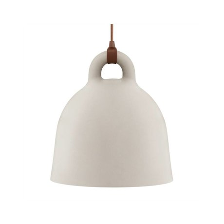 Normann Copenhagen Bell Bell kumlu kahverengi alüminyum küçük 35x37cm