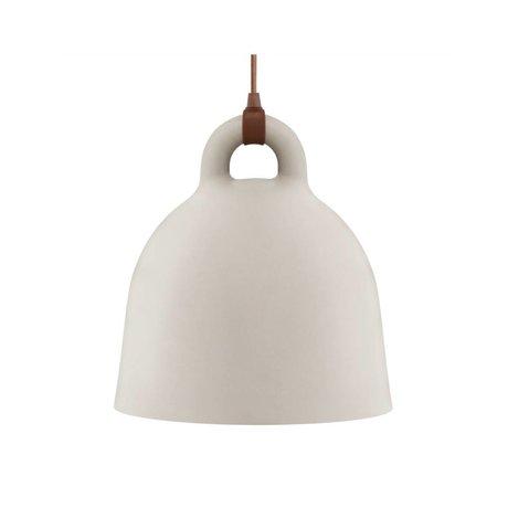 Normann Copenhagen Glockenlampe Bell Sandbraun Aluminium small 35x37cm