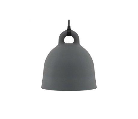 Normann Copenhagen Glockenlampe Bell grau Aluminium x-small 23x22cm