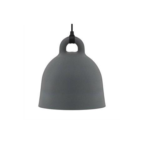 Normann Copenhagen Lámpara colgante de Bell gris aluminio XS Ø22x23cm