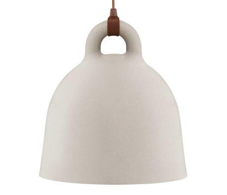 Normann Copenhagen Glockenlampe Bell Sandbraun Aluminium large 55x57cm