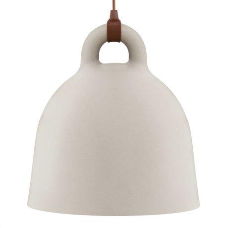 Normann Copenhagen Hängelampe Bell sand brown aluminum L Ø55x57cm
