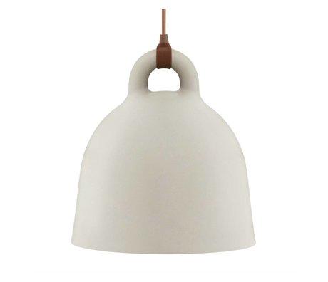 Normann Copenhagen Glockenlampe Bell Sandbraun Aluminium medium 44x42cm