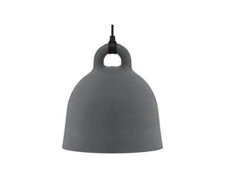 Normann Copenhagen Lámpara colgante de Bell gris aluminio S Ø35x37cm