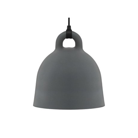 Normann Copenhagen Bell Bell aluminium gris petit 35x37cm