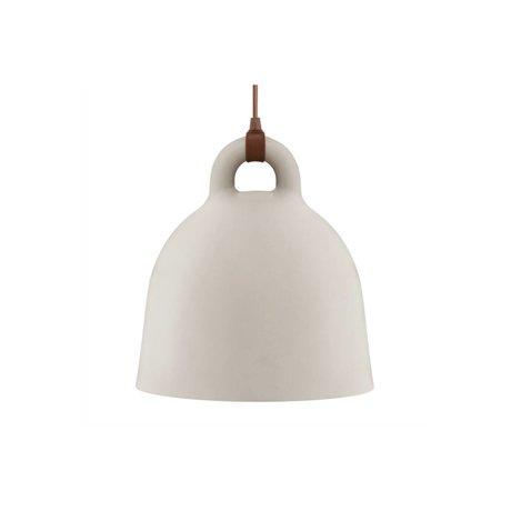 Normann Copenhagen Lampada a sospensione Campana di sabbia in alluminio marrone XS Ø22x23cm