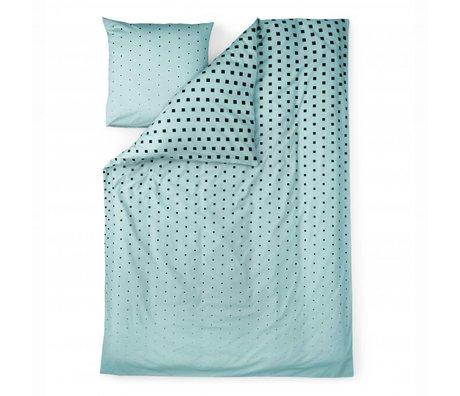 Normann Copenhagen Bedcover Cube blå bomuld 140x200cm