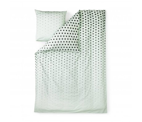 Normann Copenhagen Bedcover Cube mint green cotton 140x200cm