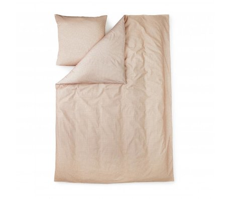 Normann Copenhagen Duvet Cover Plus pink cotton 140x200cm