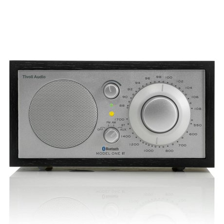 Tivoli Audio Shop Tabel Radio One Bluetooth sort sølv 21,3x13,3xh11,4cm