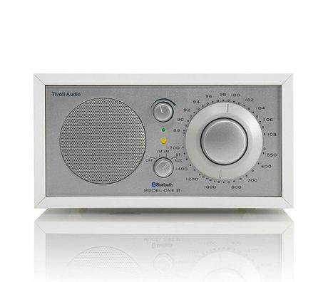 Tivoli Audio Shop Tabel Radio One Bluetooth hvid sølv 21,3x13,3xh11,4cm