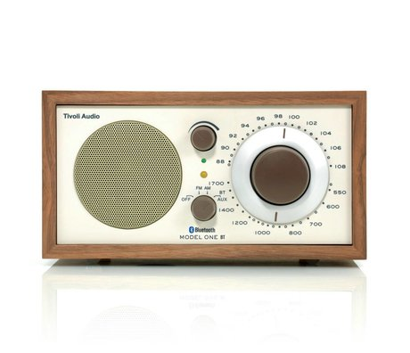 Tivoli Audio Shop Tabel Radio One Bluetooth Walnut beige 21,3x13,3xh11,4cm