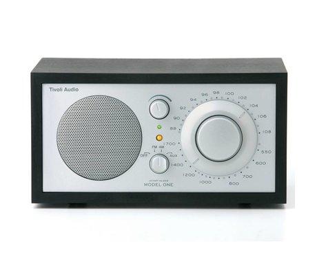 Tivoli Audio Shop Tischradio One schwarz Silber 21,3x13,3xh11,4cm