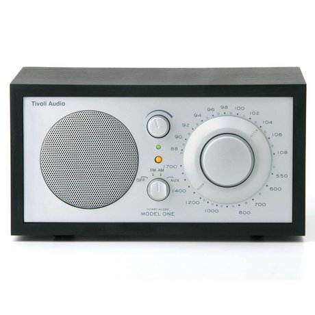 Tivoli Audio Shop Tabla Radio Uno 21,3x13,3xh11,4cm plata negro