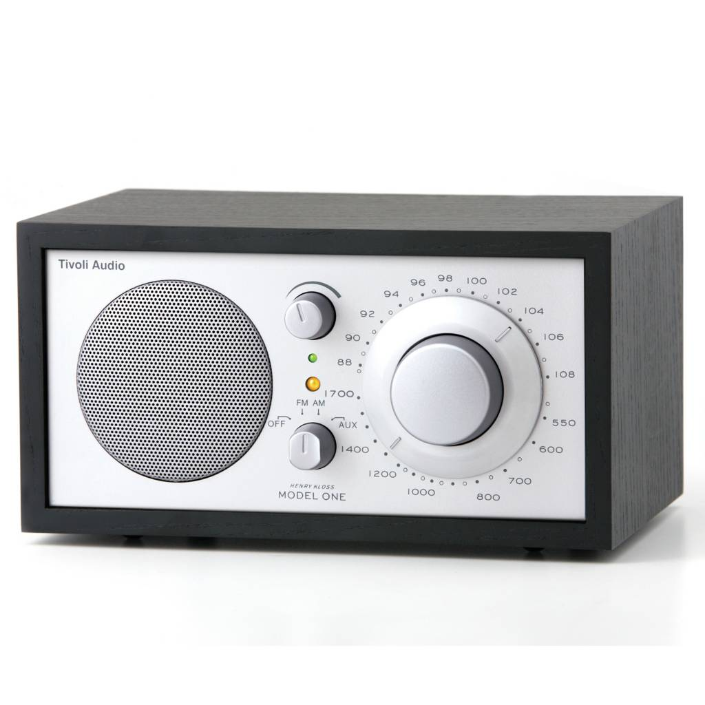 tivoli audio shop table radio one 21 3x13 3xh11 4cm argent noir. Black Bedroom Furniture Sets. Home Design Ideas