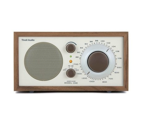 Tivoli Audio Shop Tabel Radio One Walnut beige 21,3x13,3xh11,4cm