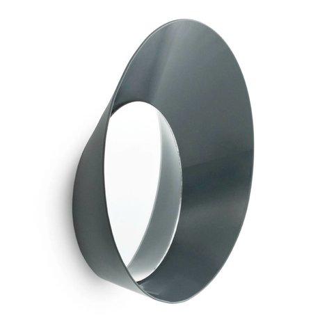 Normann Copenhagen Ayna Hazır Kanca gri çelik ø20x5cm ile kaplayın Kanca