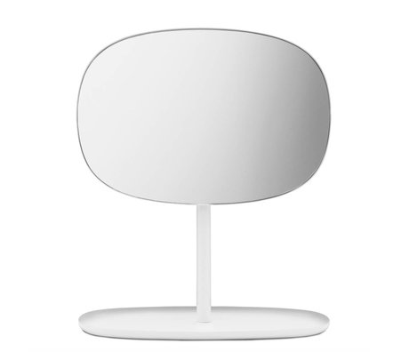 Normann Copenhagen Mirror Mirror Flip white steel 28x19,5x34,5cm