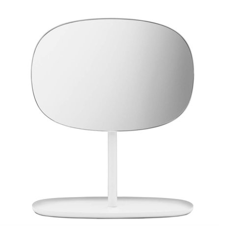 Normann Copenhagen Mirror Mirror flip 28x19,5x34,5cm en acier blanc