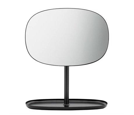 Normann Copenhagen Specchi flip mirror 28x19,5x34,5cm acciaio nero
