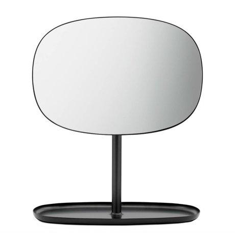 Normann Copenhagen Espejo espejos flip 28x19,5x34,5cm de acero negro