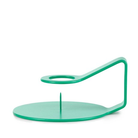 Normann Copenhagen Candeliere Nocto Aqua 12x10,2x6cm zinco verde